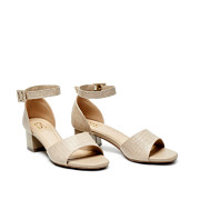 Croc-Effect Ankle Strap Block Heel Sandals_APRICOT (2)