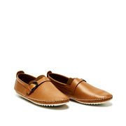 Leatherette Buckle Detail Stitched Slip-Ons_CAMEL (2)