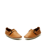 Leatherette Buckle Detail Stitched Slip-Ons_CAMEL (3)
