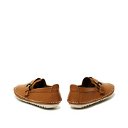 Leatherette Buckle Detail Stitched Slip-Ons_CAMEL (4)