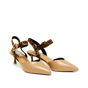 Mixed Media Ankle Strap Kitten Heels_APRICOT (2)