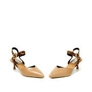 Mixed Media Ankle Strap Kitten Heels_APRICOT (3)
