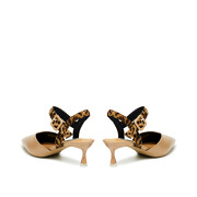 Mixed Media Ankle Strap Kitten Heels_APRICOT (4)