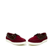 Mixed Media Lace-Up Boat Shoes_MAROON (3)