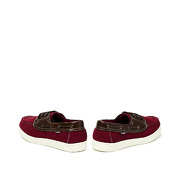 Mixed Media Lace-Up Boat Shoes_MAROON (4)