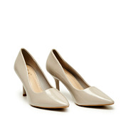 Patent Pointed Toe High Heel Pumps_GREY (2)