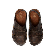 Stitched Sole Wide Fit Slip-On Sandals_COFFEE (5)