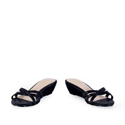 Strappy Crossover Slide Low Wedge Sandals_BLACK (3)