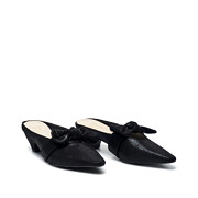 Suede Bow Mary Jane Low Heel Mules_BLACK (2)