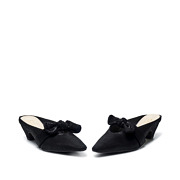 Suede Bow Mary Jane Low Heel Mules_BLACK (3)