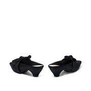Suede Bow Mary Jane Low Heel Mules_BLACK (4)