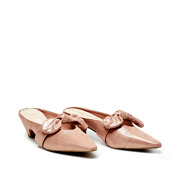 Suede Bow Mary Jane Low Heel Mules_PINK (2)