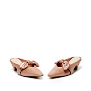 Suede Bow Mary Jane Low Heel Mules_PINK (3)