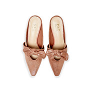Suede Bow Mary Jane Low Heel Mules_PINK (5)