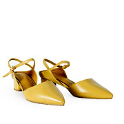 Backless Ankle Strap D'orsay Pumps_YELLOW (2)