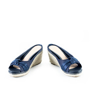 Polka Dot Knotted Espadrille Wedges_NAVY (3)