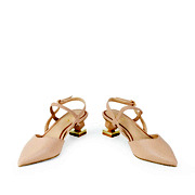 Mary Jane Ankle Strap Sculptural Heel Pumps_APRICOT (3)