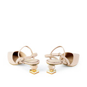 Mary Jane Ankle Strap Sculptural Heel Pumps_APRICOT (4)