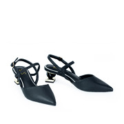 Mary Jane Ankle Strap Sculptural Heel Pumps_BLACK (2)