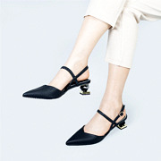 Mary Jane Ankle Strap Sculptural Heel Pumps_BLACK (5)